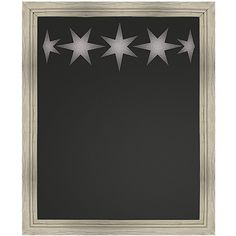 PTM Images Wood-Framed Star Chalkboard ($40) ❤ liked on Polyvore featuring home, home decor and office accessories