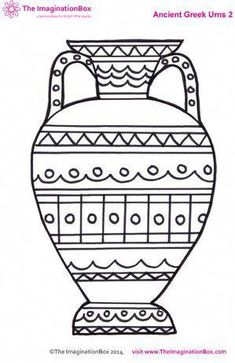 ancient greek urn colouring sheet fun free printables for kids