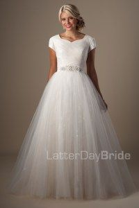 Marillion-$1220-LatterDay Bride Collection-this ballgown is the most gorgeous sorbet color!