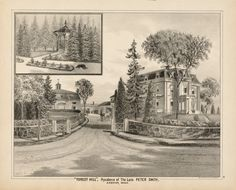 """Forest Hill,"" Residence of the Late Peter Smith, Andover Mass., 1884."
