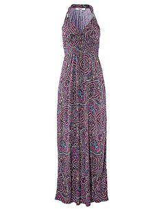 Lascana - LASCANA Strandkleid mit verstellbarem Ausschnitt beere bedruckt im Heine Online-Shop kaufen