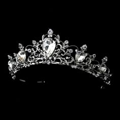 Ebony's tiara but hers will be pure silver and real diamond with ruby teardrops