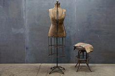 Vintage industrial rotund dress form