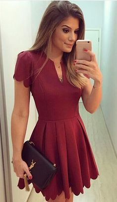 Love the color, and the scalloped edge is super cute! …