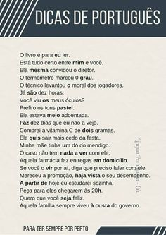 Build Your Brazilian Portuguese Vocabulary Portuguese Grammar, Portuguese Lessons, Portuguese Language, Learn Brazilian Portuguese, Fairy Tales For Kids, Learn A New Language, Study Notes, Student Life, Study Tips