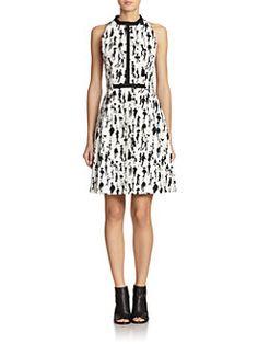 Akris Punto - Flaneur-Print A-Line Dress