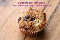 Banana Coffee Cake with Chocolate Chip Streusel Muffins by Food Librarian, via Flickr