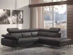 Montolivo - Couch, leather, black, modern