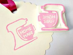 Home made stamp Mixer stamp Cooking stamp by JapaneseRubberStamps, £7.00