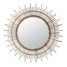 Miroir rond en bambou H 90 cm ISIS