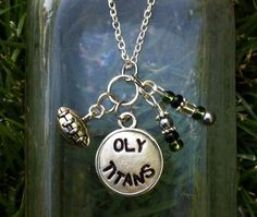 CUSTOM School Football/Soccer/Lacrosse/baseball/Sports Charm Necklace on Etsy, $15.00