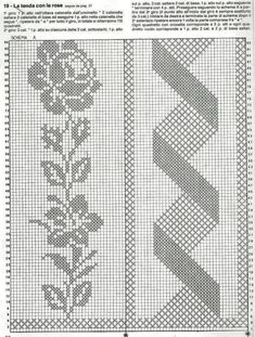 Pink Lace Flower Scarf - Handmade Filet Crochet Scarf - Pink Lace Scarf - Shabby Chic Flowers - Dresser Scarf or Flower Table Runner Crochet Bedspread Pattern, Crochet Curtains, Crochet Doily Patterns, Crochet Doilies, Crochet Lace, Crochet Stitches, Knitting Patterns, Fillet Crochet, Vintage Crochet