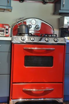 Red Kitchen On Pinterest Accessories