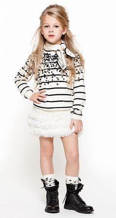 Twin-set aw 14, moda para niñas que triunfa http://www.minimoda.es