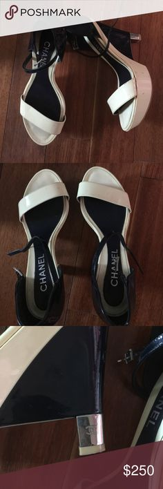 "Authentic Chanel Wedges In great condition. Gorgeous! Insole measurement of 10"" CHANEL Shoes"
