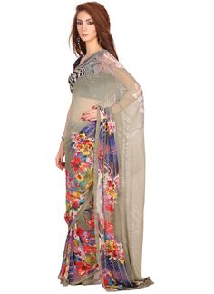 You look so charming wearing this attire. Make the heads flip whenever you costume up in this kind of a attractive grey georgette casual saree. The fantastic attire creates a dramatic canvas with fant...