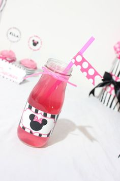 Minnie Mouse inspired printable water by SweetEventsBoutique, $4.00