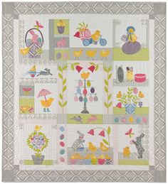 Chick Jubilee Block of the Month designed by Anne Sutton of Bunny Hill Designs