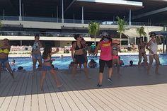 Poolside Zumba fun @royaltoncun with NRG2GO instructor Joy Smith. #nrg2go  #RoyaltonResorts #RoyaltonRivieraCancun