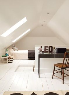 Not only could you turn your loft into another bedroom but also a study as well http://skylofts.co.uk Cool loft room for kids