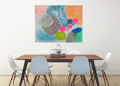 Large Art Print Happy Wall Art Home Decor Abstract by BlossomnBird