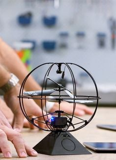 Magic meets tech in the Puzzlebox Orbit, a mind-controlled helicopter.