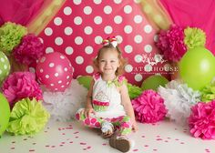 Pink Polka Dots Photography Backdrop