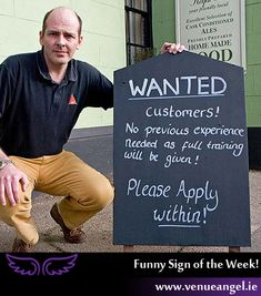 Wanted Customers Funny Bar Signs spotted all over the World and online. Restaurant Signs Funny, Funny Bar Signs, Wine Signs, Pub Signs, Sidewalk Signs, Bar Quotes, Funny Puns, Funny Stuff, Drinking Quotes