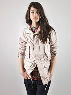 plaid button up.. love everything bout this look even the jacket