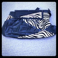 Zebra and black leather clutch Black leather and zebra clutch. Bags Clutches & Wristlets