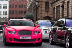 like a boss in a pink Bentley