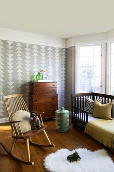 the boo and the boy: rockers and change areas Nursery Design, Kids Room Design, Wall Design, Baby Porcupine, Animal Print Shop, Nursery Neutral, Aztec Nursery, Nursery Inspiration, Nursery Ideas