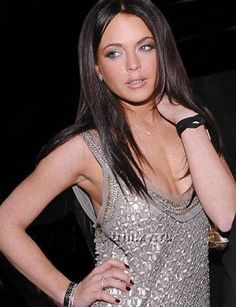 Lindsay Lohan- she used to look so pretty with dark hair and red hair. used to love her before she went crazy.