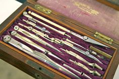 vintage architectural drafting tools