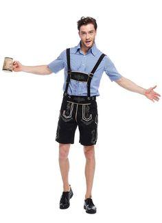 Men s Oktoberfest Costume German Beer Festival Maid Outfit Bavarian  Oktoberfest Lederhosen Cosplay Costumes Clothing J15. 6d2201ac7fca