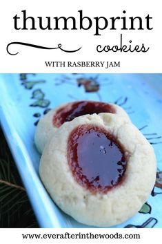 ThumbprintRaspberryJam Cookies are my husbands absolute favorite Christmas cookie. I need to make a separate batch just for him! These cookies are delicious and best given or eaten within a few days for the melt in your mouth butter flavor cookie. You can use anytime of jam you like. I suggest seedless because really who wants seeds in their teeth under the mistletoe? Thumbprint Jam