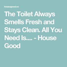 The Toilet Always Smells Fresh and Stays Clean. All You Need Is.... - House Good Cleaning Wood, Household Cleaning Tips, Toilet Cleaning, Bathroom Cleaning, House Cleaning Tips, Household Cleaners, Homemade Cleaning Products, Cleaning Recipes, Natural Cleaning Products