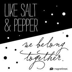 Like Salt & Pepper, We Belong Together | Wedding Inspiration from MagnetStreet