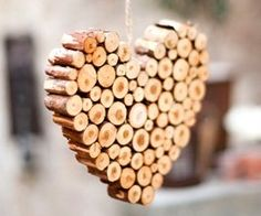 wood heart - could make this out of corks