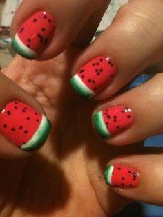 Perfect watermelon Nail art for Summer.....