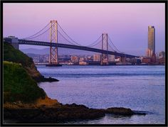 The San Francisco – Oakland Bay Bridge from Treasure Island | San Francisco, California, US