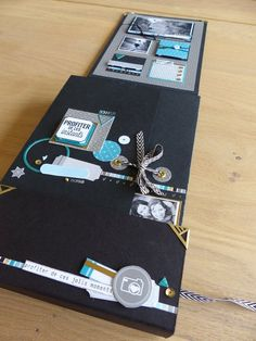p1290423 Album Photo Scrapbooking, Mini Albums Scrapbook, Scrapbook Journal, Scrapbook Sketches, Scrapbook Cards, Mini Album Tutorial, Pocket Letters, Album Book, Mini Books