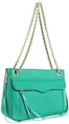 Rebecca Minkoff Women's Swing Shoulder Bag with Hidden Zipper, Bright Green,$330.00