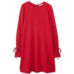 Puffed Sleeves Dress ($35) ❤ liked on Polyvore featuring dresses, long sleeve day dresses, zipper dress, red sleeve dress, long sleeve dress and puff long sleeve dress