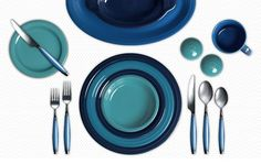 Singing the blues with Fiesta's Cobalt, Lapis and Turquoise at Your Colorama - create your own color combo!