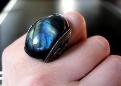 $65 cool Labradorite ring.