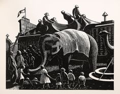 Country Matters by Clare Leighton. Wood Engraving, 1937