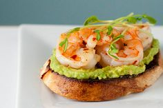 Let's Do Lunch: Garlicky Shrimp Avocado Sandwiches - @Jessi Lane looks like what you had at lunch the other day