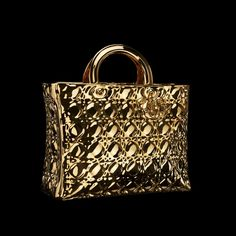 Lady Dior As Seen By exhibition in Tokyo, Liu Jianhua - Lady Dior Handbag Best Handbags, Purses And Handbags, Gold Fashion, Fashion Bags, Women's Fashion, Christian Dior, Bronze, Lady Dior, Beautiful Bags
