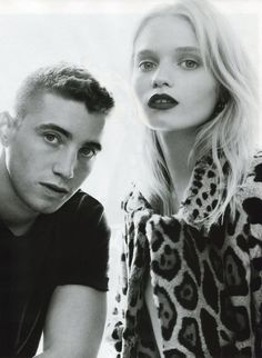 Abbey Lee Kershaw with brother Tim Kershaw in Vogue China